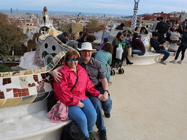 Me and Mel at Parc Güell, Barcelona