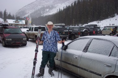 Me in Gambian Dress - Skiing???