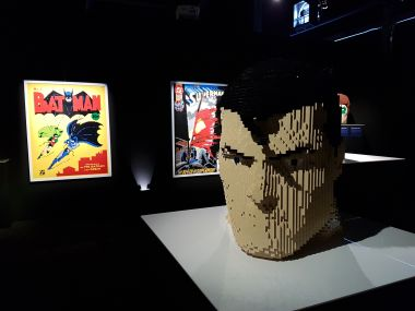 """Superman Bust"", ""Superman Cover"" and ""Batman Cover"""