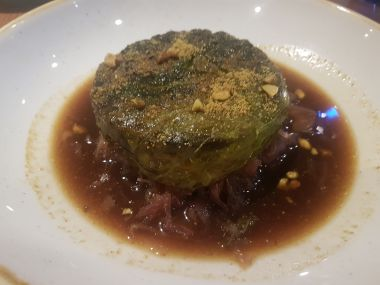 Stuffed Savoy Cabbage with Duck and Sauerkraut