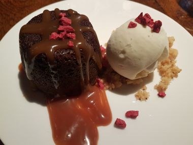 Sticky Ginger Toffee Pudding, Garam Masala Ice Cream