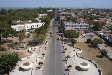 Banjul from the Top of the Arch