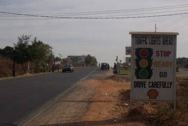 The ONLY Set of Traffic Lights in the Gambia - Pipeline (Kanifing)