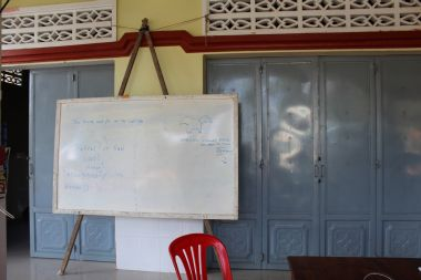 White Board with English Lessons