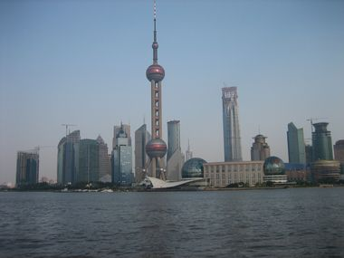 View of the Pearl Tower from the Bund