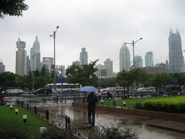 People's Square in the Rain