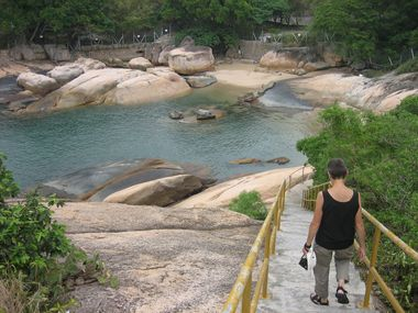 Walking on the Rocks at Pak Tso Wan
