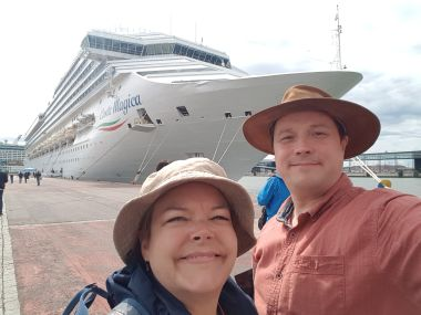 Me and My Wife on Our First Cruise