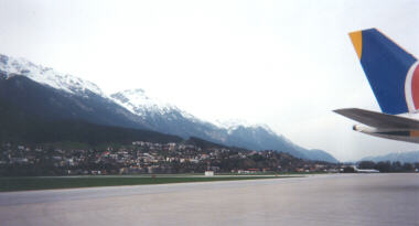 Arriving at the Innsbruck Airport