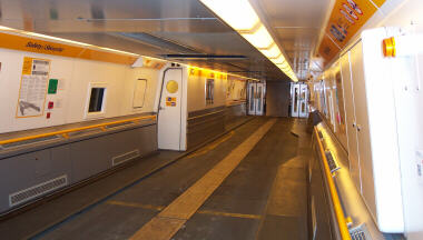 Inside a EuroTunnel Car