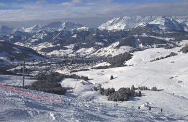 View of Town of Megeve from St. Gervais Ski Area