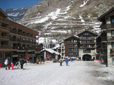 The Centre of the Village at the bottom of the Solaise Express lift