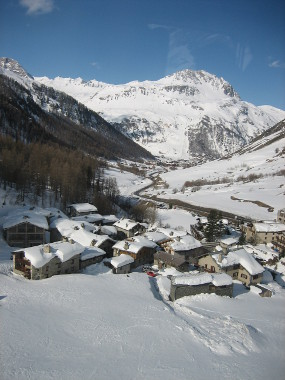 The Edge of the Village from the Fornet Lift