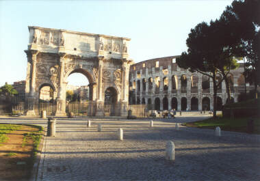 The Colosseum (and the Arch of Constantine)