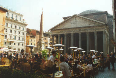 The Pantheon (and Nearby Cafes)