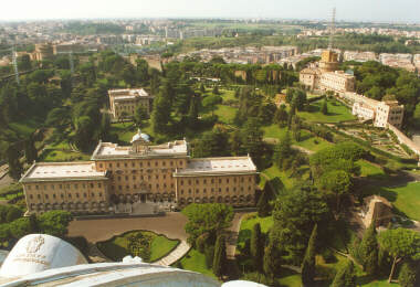 Vatican City from Above (behind St. Peter's)