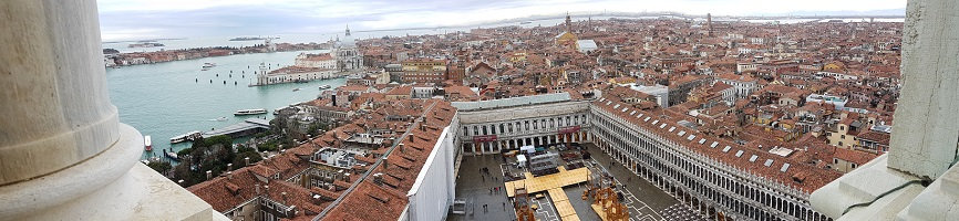 View from the Top of Campanile in Piazzo San Marco