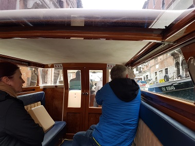 Inside a Water Taxi