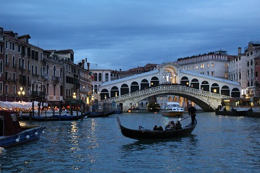 The Rialto Bridge from the Grand Canal