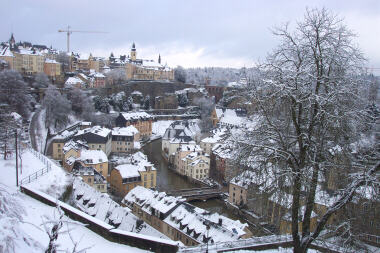 Luxembourg (Looking down on the Rue de Treves/Hospice Area)