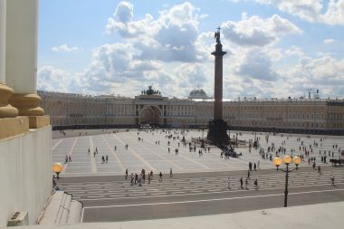 Palace Square from the Windows of the Hermitage