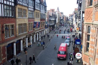 Chester High Street (from East Gate)