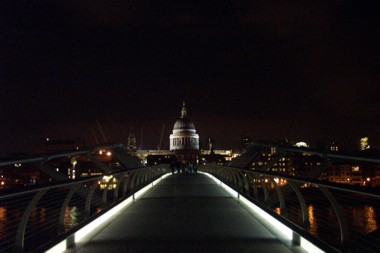 On the Millenium Bridge -- Back to the Tate Modern, Looking towards St. Paul's