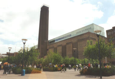 Tate Modern on the South Bank of the Thames