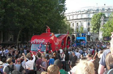 A Whole Parade Came In Advance of the Torch