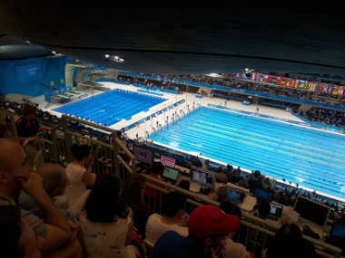 The View of the Pool from our Seats