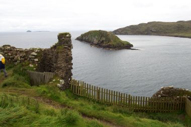 From Duntuim Castle (on the north coast) Looking Along Coast