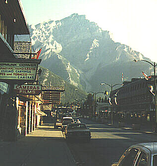 The Main Street in Banff